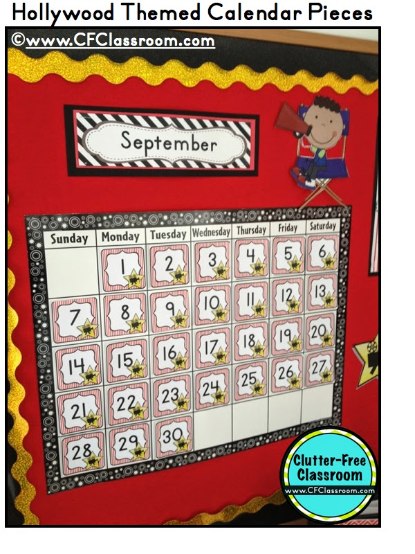 Classroom Calendar Sets : Clutter free classroom calendar makeover