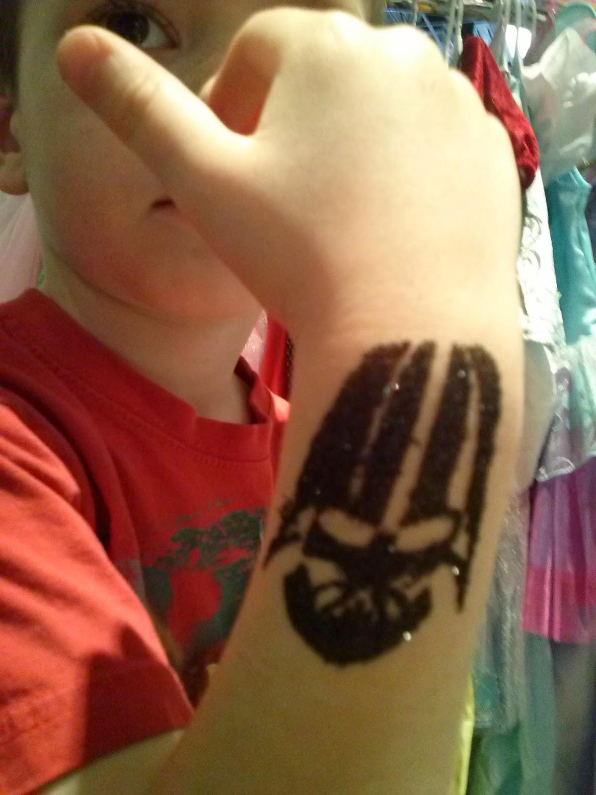 Darth Vader Glitter Tattoo