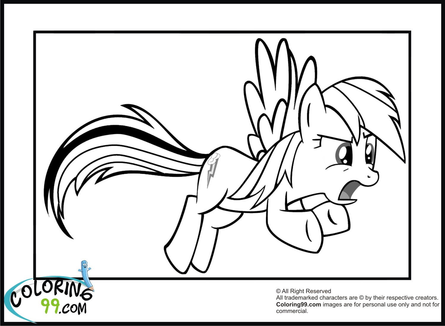 100 my little pony coloring pages rainbow dash my little pony