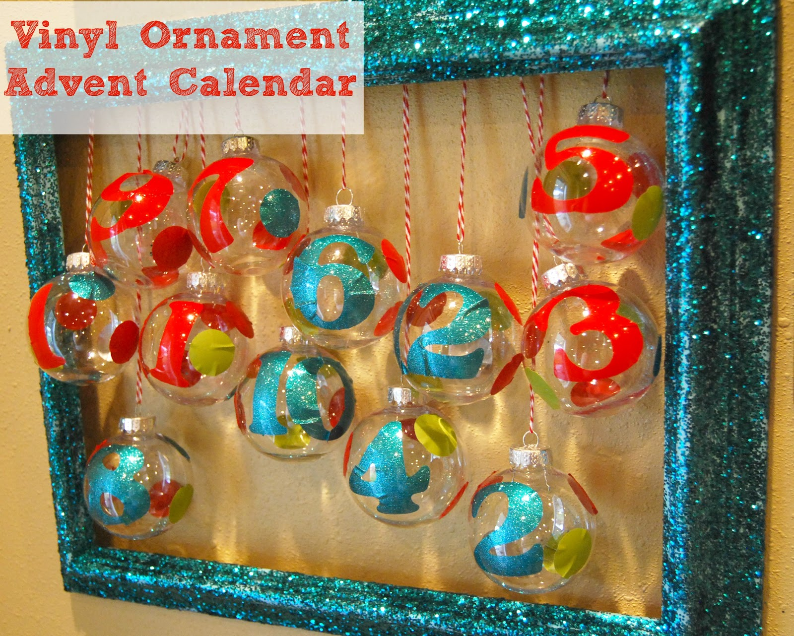 Advent Calendar Ideas For Girls : Vinyl ornament advent calendar girl loves glam