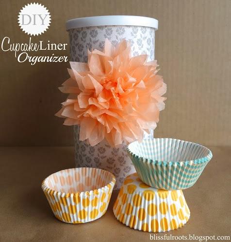 DIY Cupcake Liner Organizer