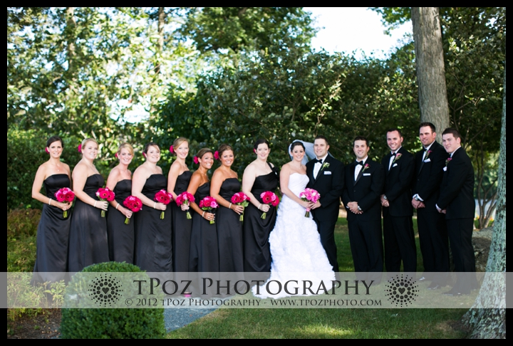 Hillendale Country Club Wedding Bridal Party Portrait