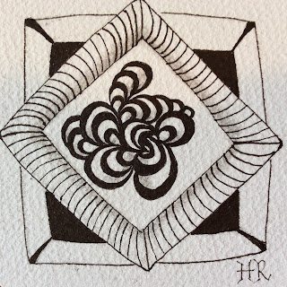 Zentangle, Diva Challenge #217, Bunzo, Dex, Helen Rowlands, Go Places