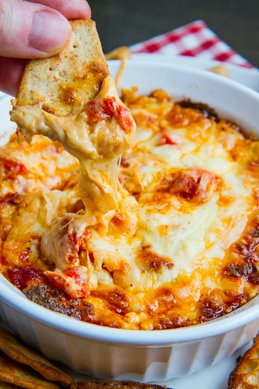 Four Cheese Hot Roasted Red Pepper Dip