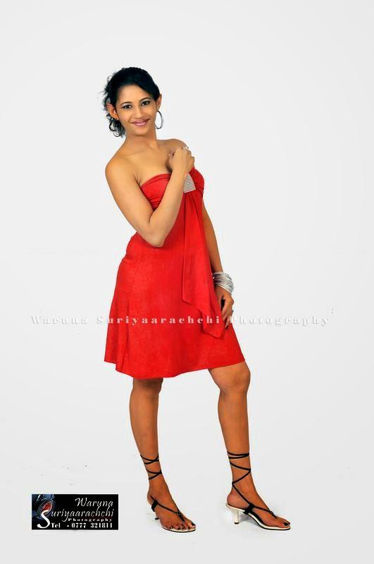 sri lankan model red