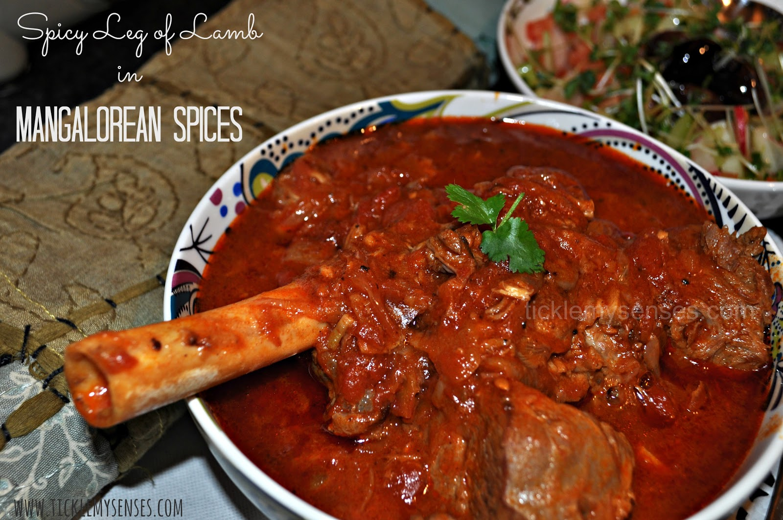 tickle my senses post easter special pot roasted leg of in a spicy mangalore style curry
