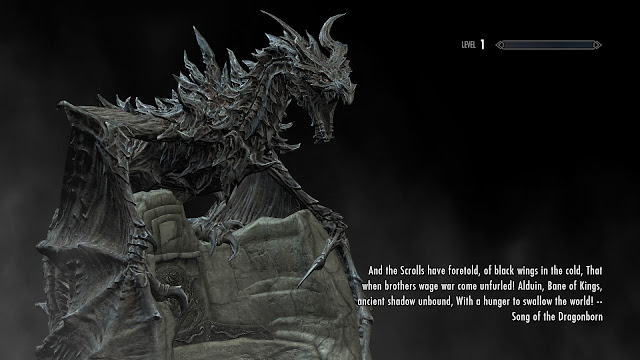 Skyrim dragon loading screen