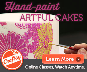 50% off offer: Check out my new Craftsy Class, the Art of Painted Cakes!