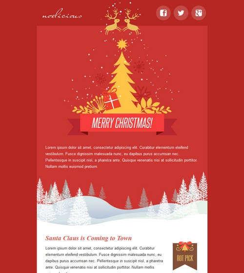 happy new year email template 2016