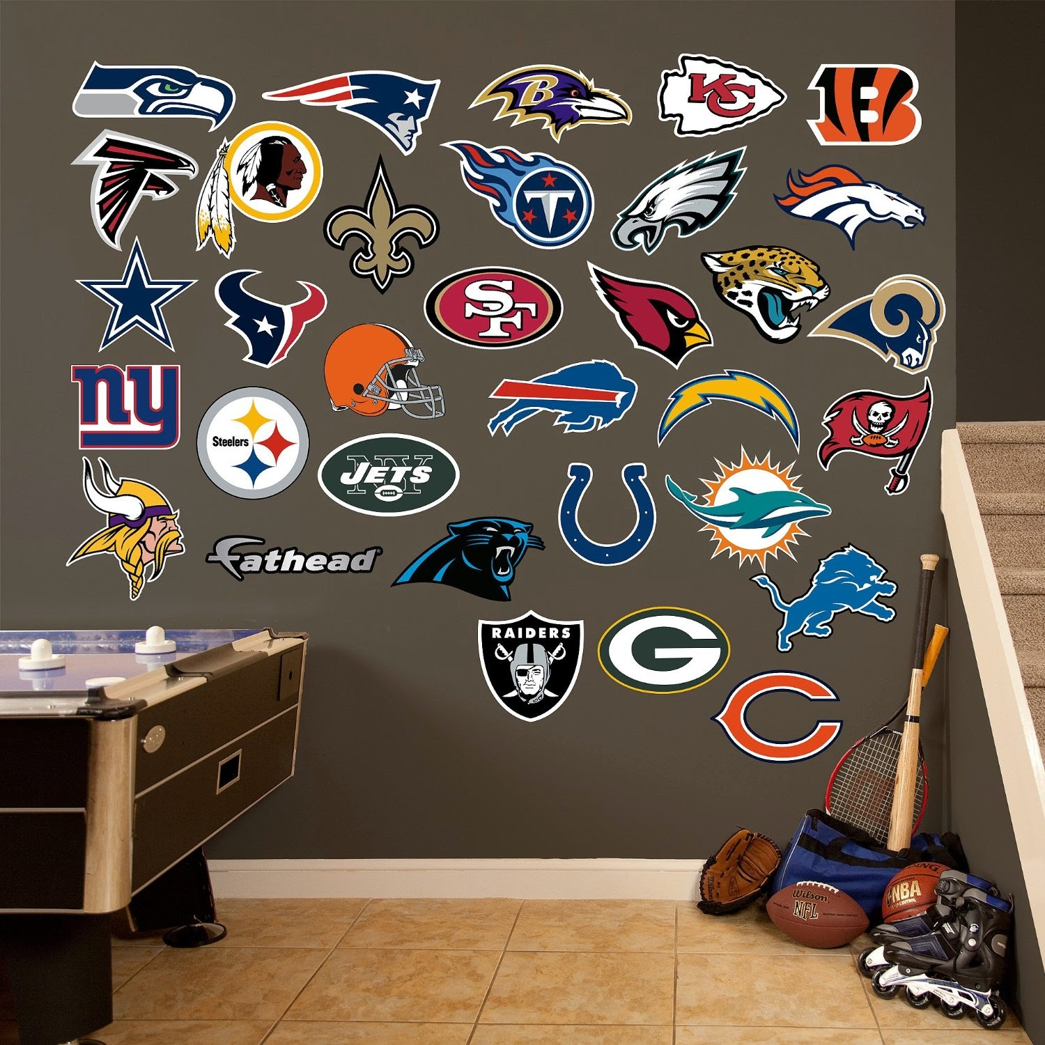 NFL Teams Logo Collection Wall Graphics