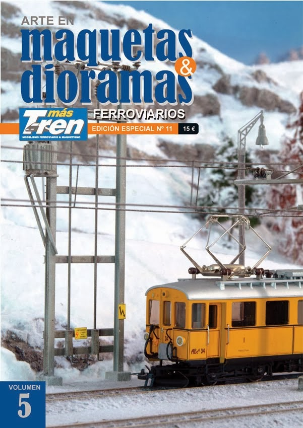 """""""Recreación invernal."""" Especial nº 11 Maquetas & Dioramas Ferroviarios - Vol. 5. Más Tren. (2014)."""