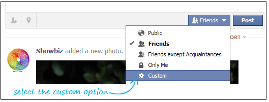 Limit Facebook Post Visibility