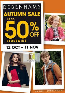 DEBENHAMS Autumn Sale 2012