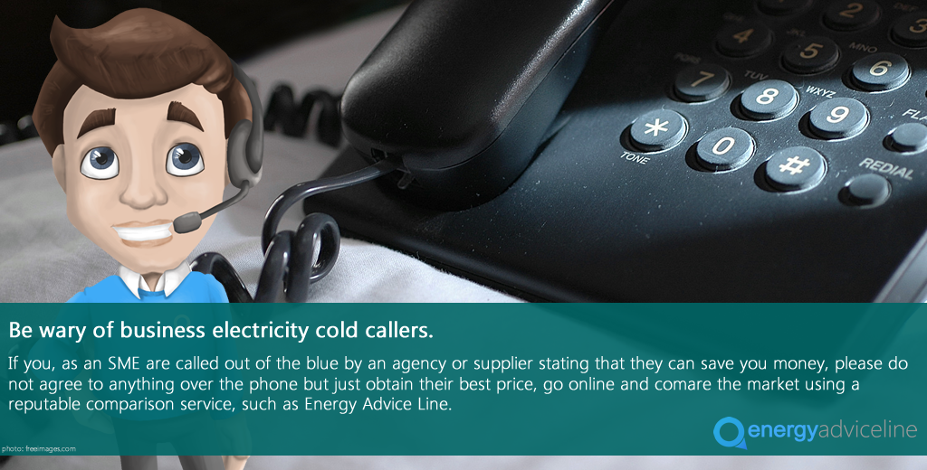 Be wary of business electricity cold callers