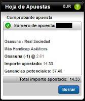 Apuestas Deportivas Rosberg Fútbol – Liga BBVA España Osasuna-Real Sociedad Titanbet