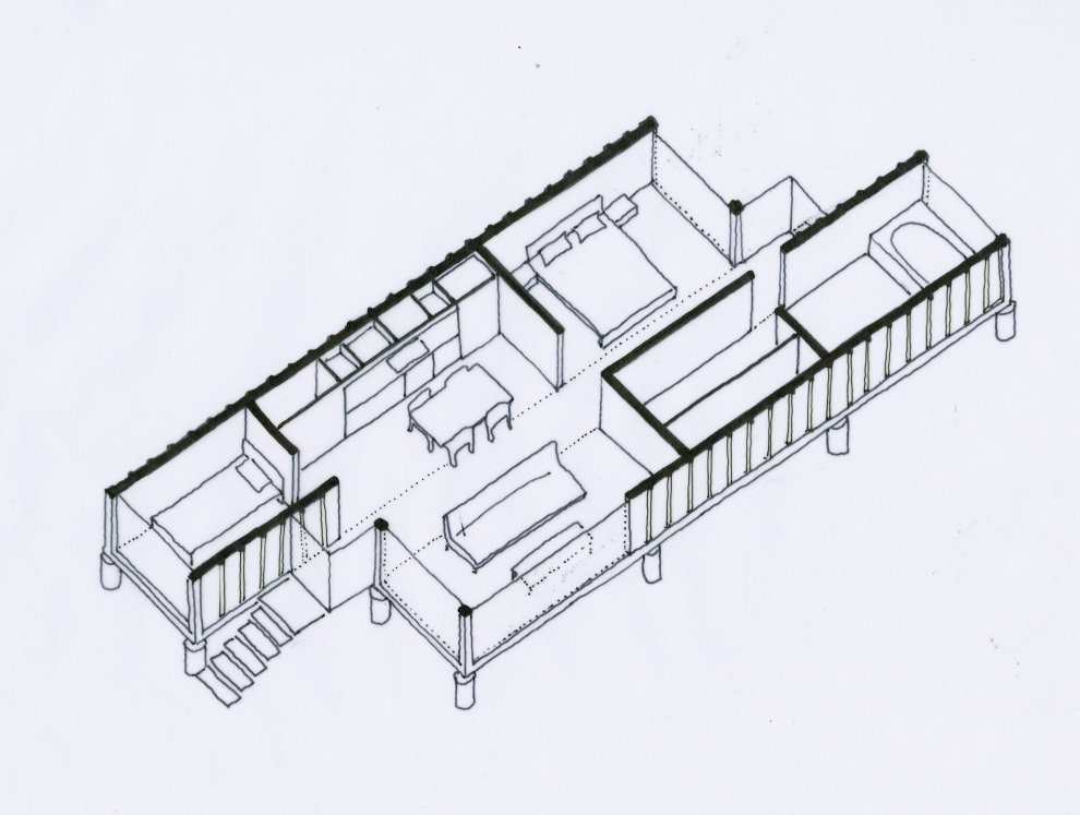 How about two 40 ft. shipping container as house? I like this architecture.