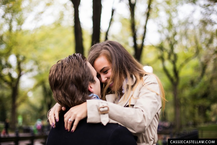 Lifestyle Engagement Photos in October, Bethesda Terrace Central Park NYC - www.cassiecastellaw.com