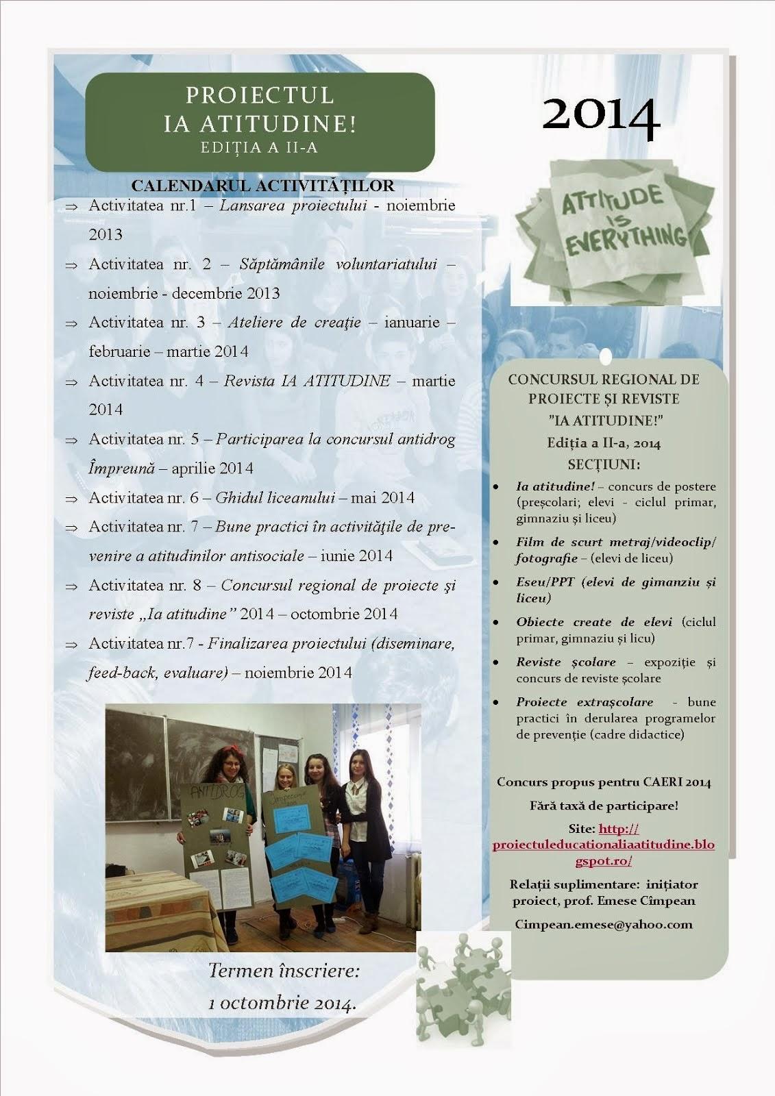 Afiș IA ATITUDINE! Ediția a II-a