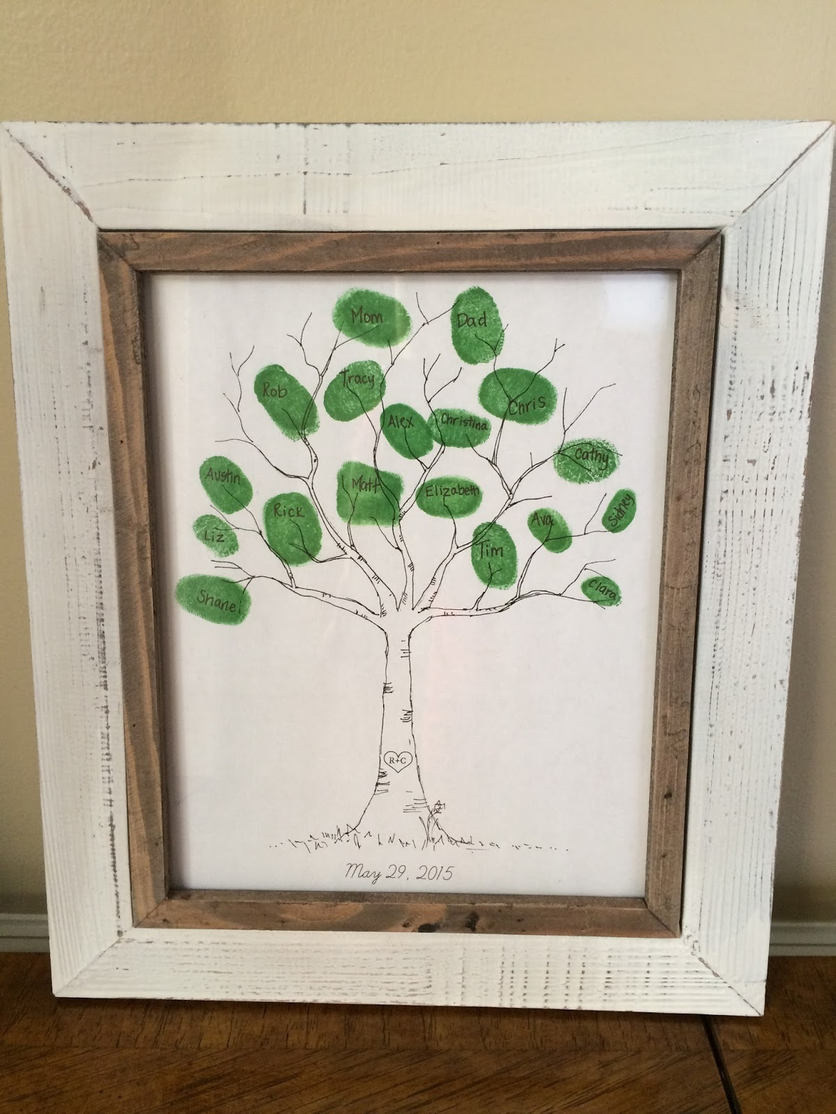 keeping up with the kiddos family thumbprint tree 50th anniversary gifts