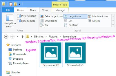 Windows 8 Explorer Tips: Thumbnail Previews Not Showing in Windows 8   Explorer