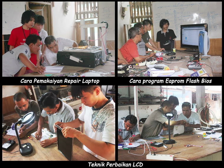 Pelatihan Flash Bios, Lcd, dan Inverter