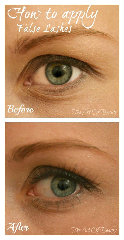 The Art Of Beauty: How to apply false eyelashes