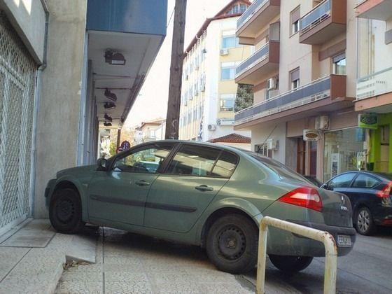 Ο πλέον συνήθης τρόπος παρκαρίσματος στην Έδεσσα