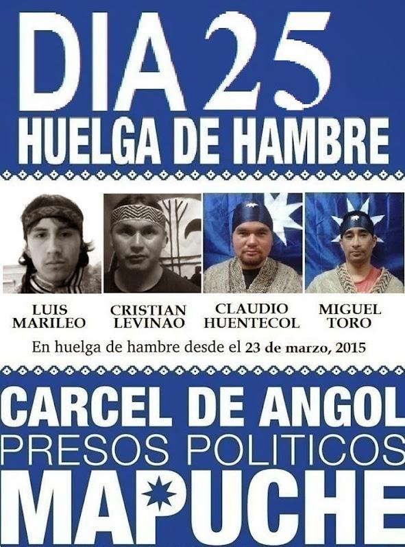 HUELGA DE HAMBRE: PRESOS POLÍTICOS MAPUCHE, CÁRCEL DE ANGOL