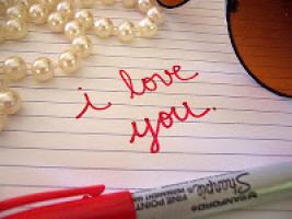 Une lettre d'amour romantique