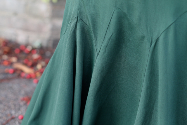 ASOS 30s style green maxi dress