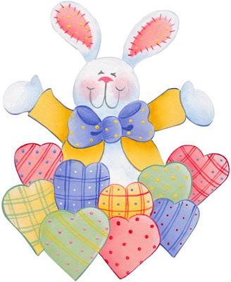 conejos con corazones para imprimir