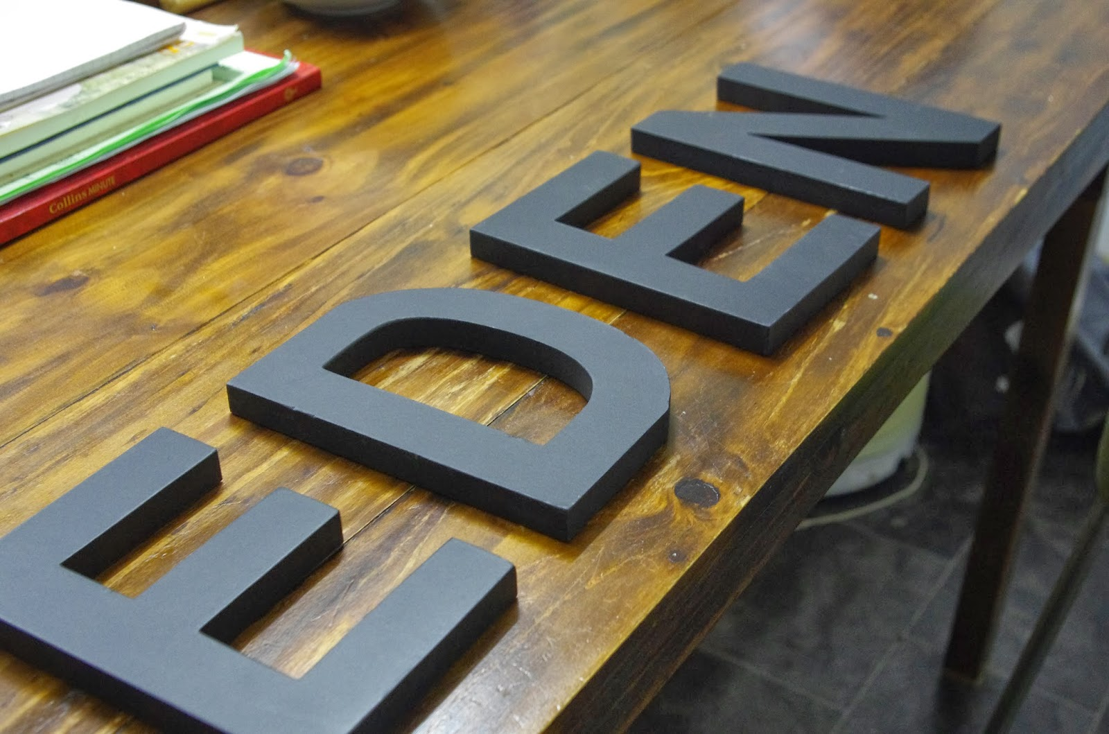 Make Sew Bake Grow: Frugal Christmas Gifts: Paper Covered Wooden Letters