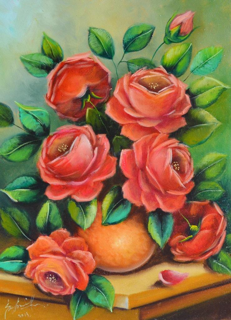 Cuadros modernos pinturas y dibujos cuadros flores - Cuadros florales modernos ...
