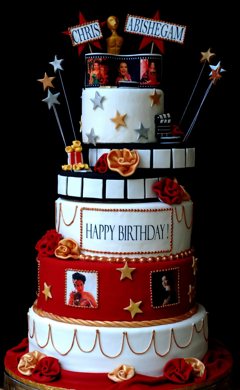 Cupcakes Confetti Hollywood Cake