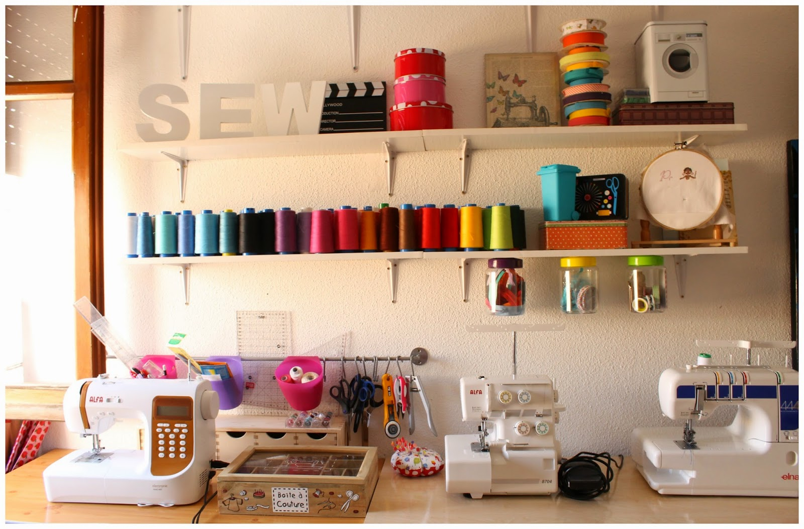 Srta.Pizpiretta: Mi cuarto de costura/ My sewing room