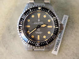 STEINHART OCEAN ONE VINTAGE MILITARY MK 2.5 DIVER 1000ft/300meter PATINE INDEX-AUTOMATIC ETA 2824-2