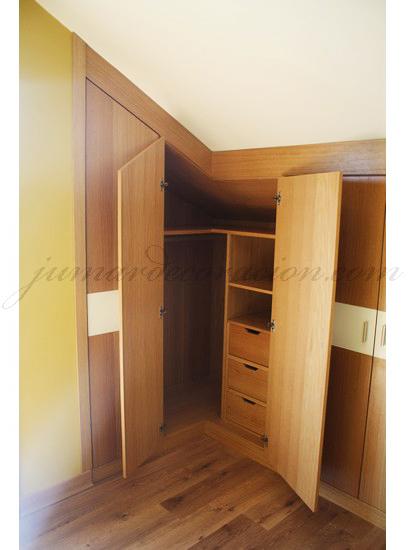 Jumar decoraci n armario empotrado en esquina y con ca da - Armarios empotrados en esquina ...