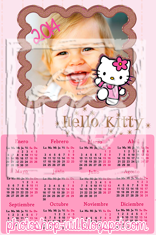 os dejo un calendario para 2014 de hello kitty espero que lo disfruten ...