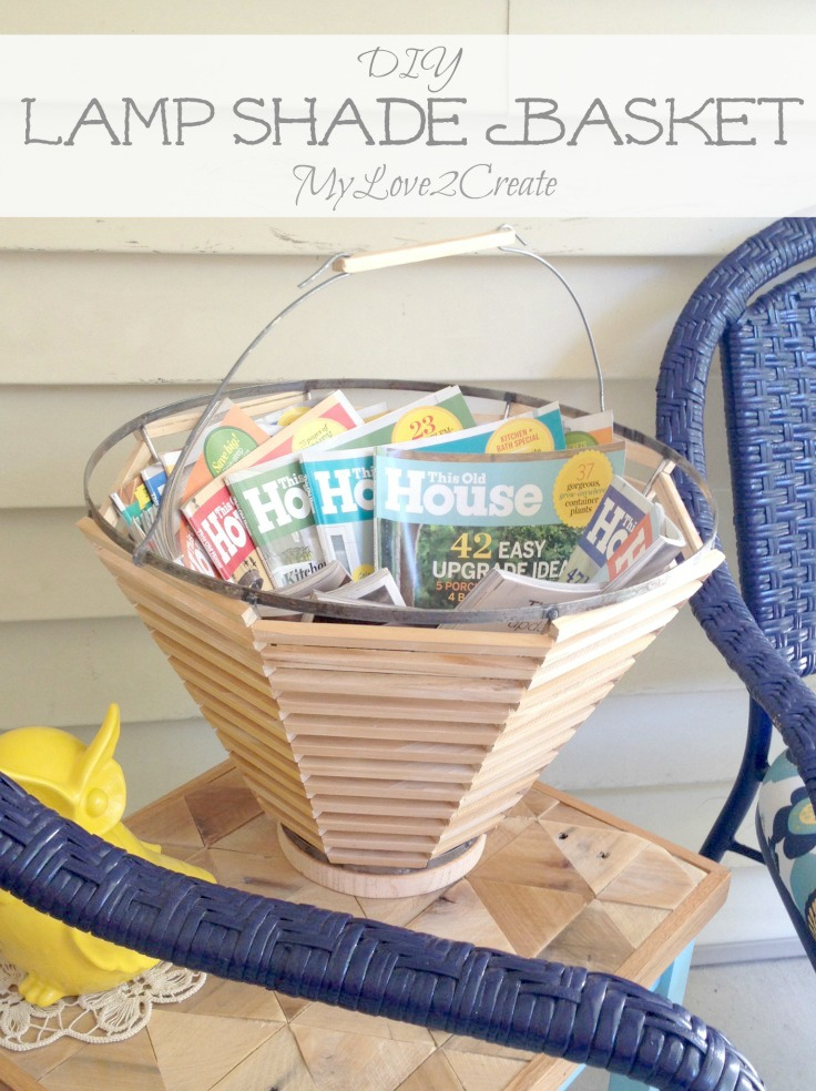 MyLove2Create Salvage Style Lamp shade basket