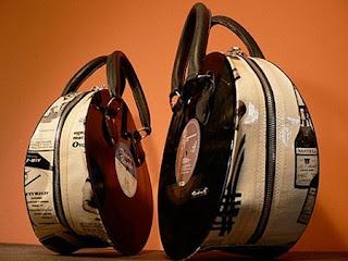 Carteras y bolsos con discos de vinilo - Discos vinilos decorativos ...
