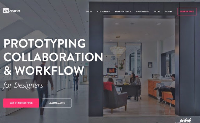 Inspiration by Iscomigoo Webdesign: Invision, site internet