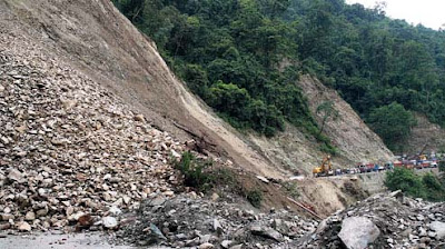 Landslide at Swetijhora NH10