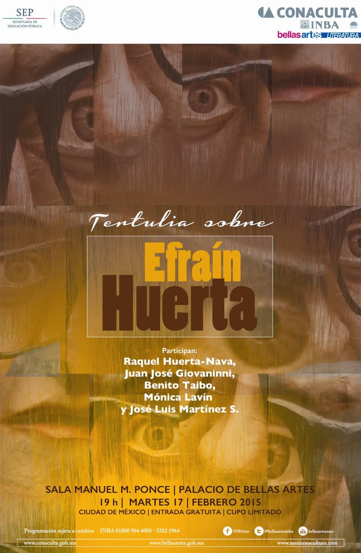 Recuerdan a Efraín Huerta a 33 años de su fallecimiento en el Palacio de Bellas Artes