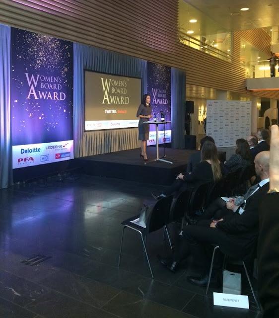Crown Princess Mary of Denmark attended Women's Board Award 2016  ceremony at the Deloittehuset in Copenhagen