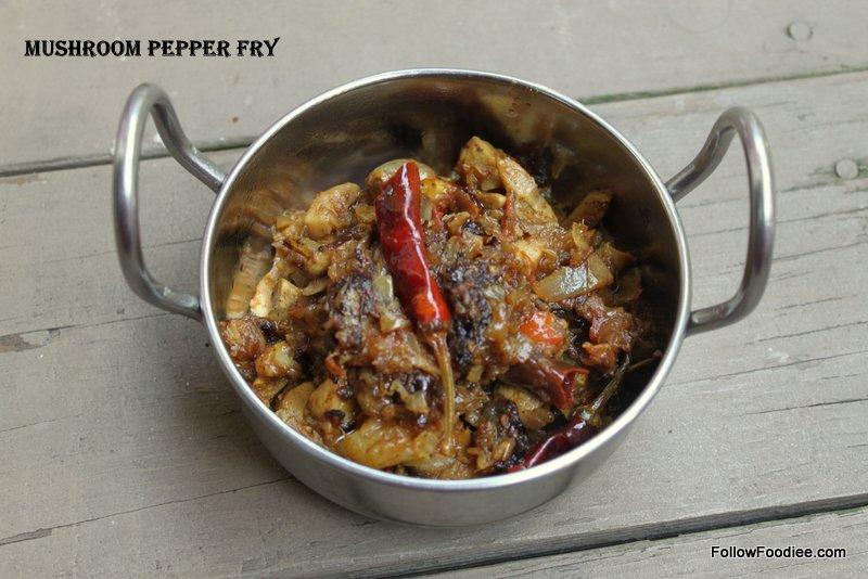 Mushroom Sukka Varuval Recipe
