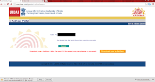 """You are ready, Click on """"Download your e-Aadhaar"""""""
