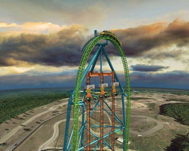 Six Flags Great Adventure says Zumanjaro: Drop of Doom will hoist riders 415 feet in the air and drop them back to the ground at 90 mph.