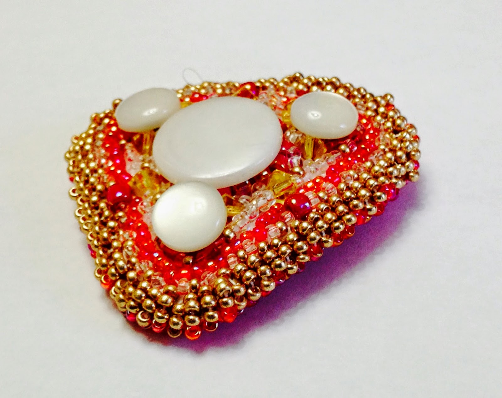 4 Button Etsy Brooch Listing
