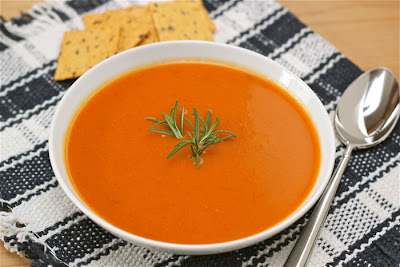 Easy red pepper pumpkin soup -- a creamy sipping soup