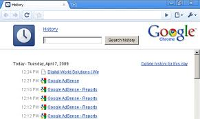 Delete History Google Chrome